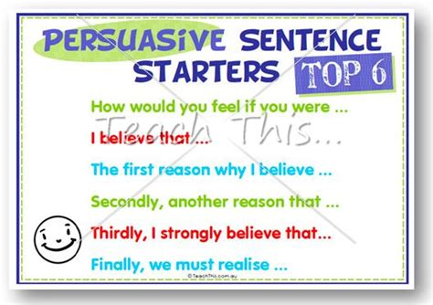 Argumentative Essay Sentence Starters by Persuasive Sentence Starters Middle Primary Products Middle And