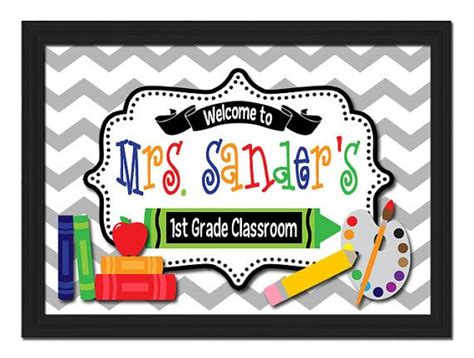 classroom door signs templates 37 best name signs images on