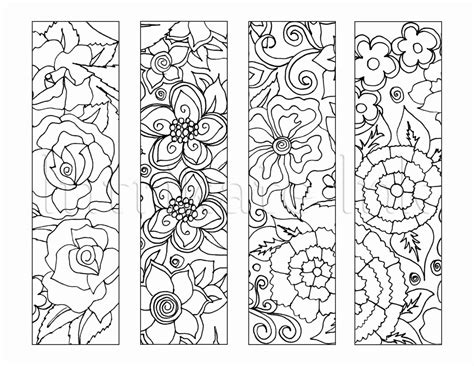 peace colouring bookmarks 4 flower colouring bookmarks instant download printable
