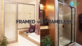 Frameless Vs Framed Shower Doors Framed Vs Frameless Alluring Glass