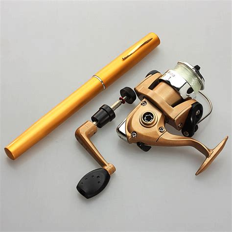 Pancing Pena Lazada teleskopik aluminium mini pocket pena fishing rod gulungan