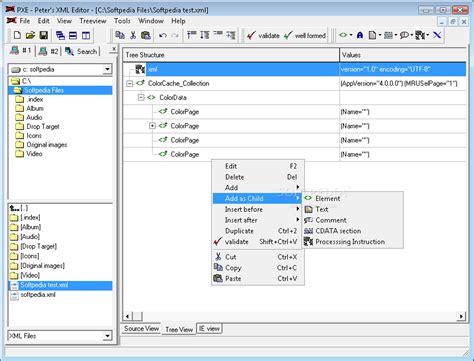 xml editor peters xml editor
