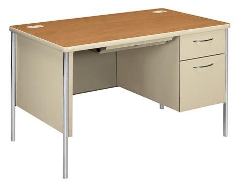Hon 34000 Series Right Single Pedestal Steel Desk 45 1 2 Steel Office Desks