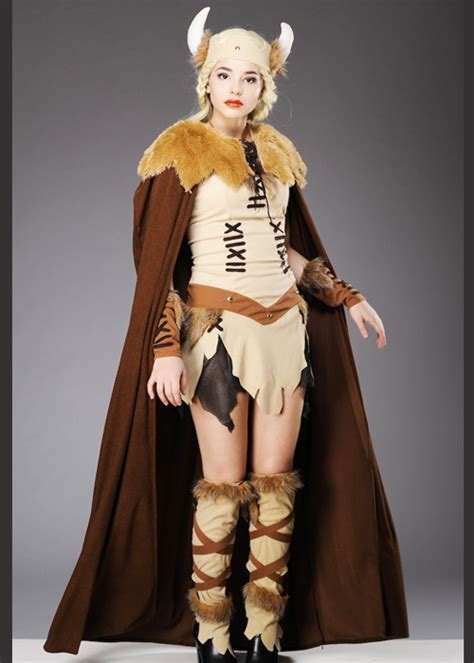 adult ladies viking princess costume  cape