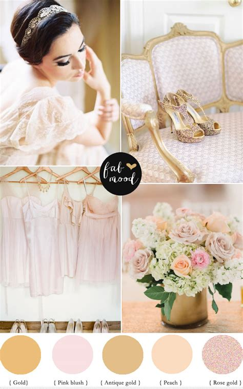 Decoration Home Ideas by Rose Gold Blush And Gold Colour Palette