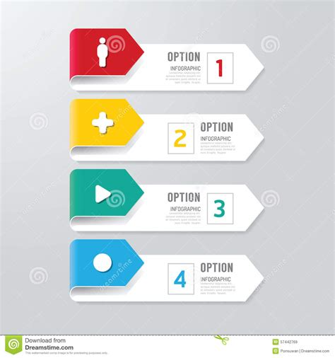 free layout graphic design modern infographics design options banner vector