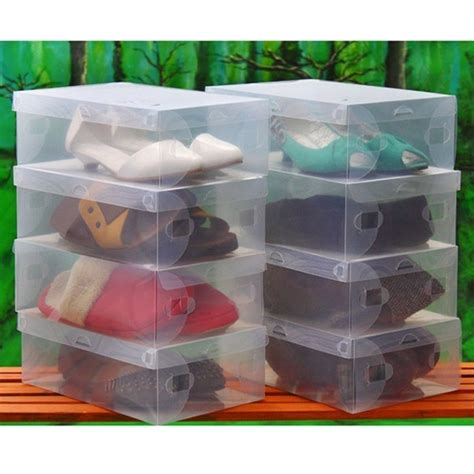 clear storage boxes for shoes 5pcs clear plastic shoe boxes shoes storage organizer box