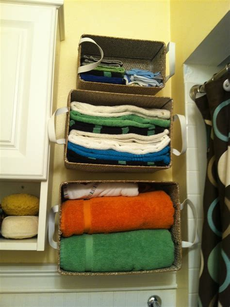 Creative Bathroom Storage Creative Bathroom Storage When You Don T A Linen Closet For The Home Pinterest