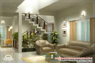 Livingroom Interiors by Beautiful Living Room Rendering Kerala Home Design And
