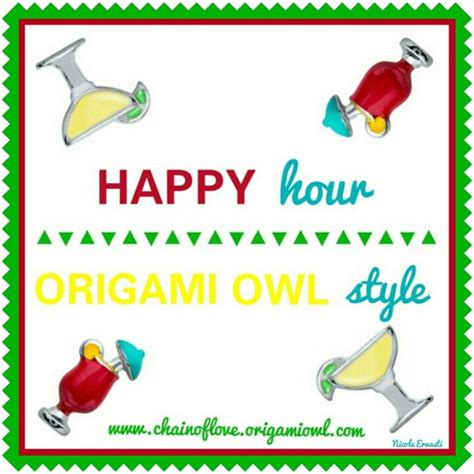 Origami Happy Hour - 72 best images about chain of origami owl on