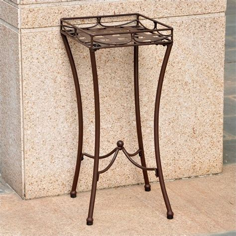 Patio Plant Stand by Nailhead Patio Plant Stand In Brown 3560 Rt Bn