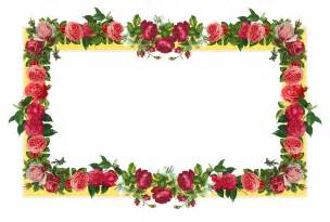 rose flower borders cliparts co