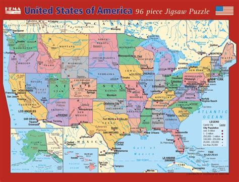 us map puzzle addicting united states childrens jigsaw puzzle puzzlewarehouse