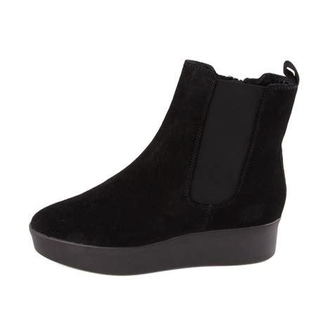 of shoes black suede mothers hogl black suede flatform boots