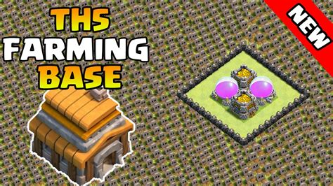 clash of clans town hall 5 farming defense best base layout clash of clans th5 town hall 5 defense strategy coc