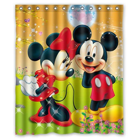 mickey and minnie curtains custom waterproof bathroom shower curtain 180x180cm mickey