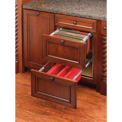 drawer kits for kitchen cabinets two tier pull out file drawer system for kitchen or desk cabinet by rev a shelf features