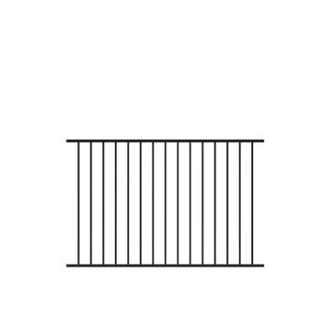 veranda beechmont 4 ft h x 6 ft w black aluminum fence