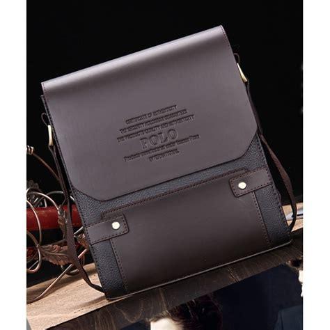New Tas Model Polo Besar Tas Selang Pria Kulit Pu Tas Kerja Cow tas selempang kulit merk polo