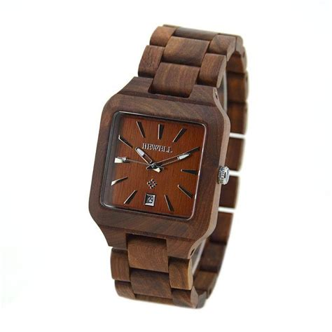 new arrival style wooden square wristwatch