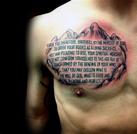 bible verse tattoos on chest 50 bible verse tattoos for scripture design ideas