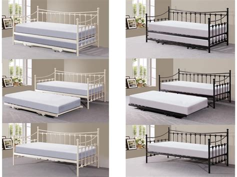 double day beds metal guest day bed with trundle with or without