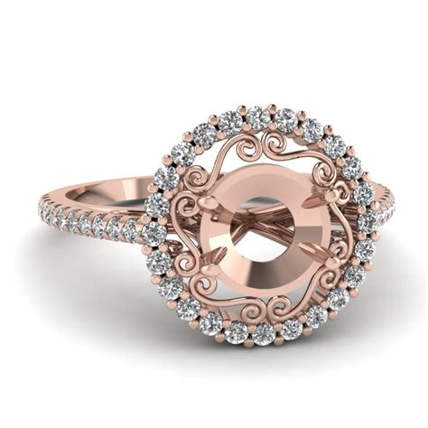 flower pattern engagement ring ring settings without center diamond fascinating diamonds