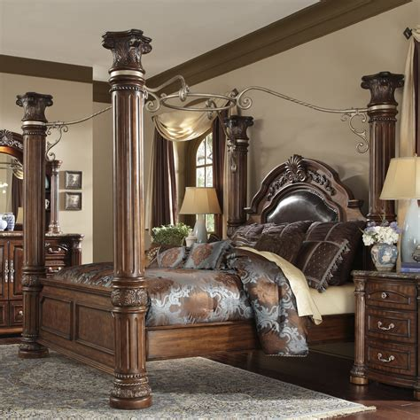 four post king size bedroom sets michael amini monte carlo ii upholstered canopy bed wayfair
