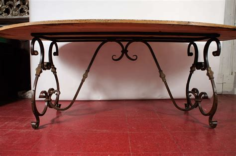 Wrought Iron Dining Room Table Base by Oval Metal Base Dining Table At 1stdibs