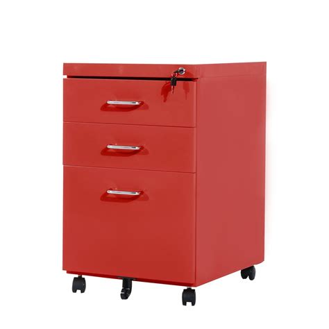 3 drawer filing cabinet aosom ca