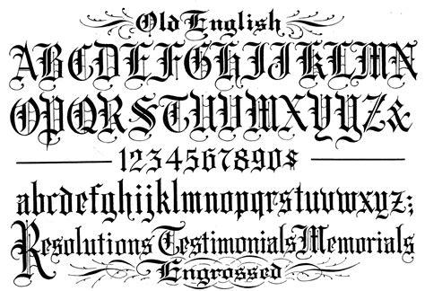 old english font style a z tattoo writing generator old
