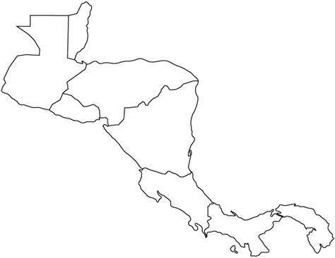 Central America Outline Map Labeled by Outline Map Of Central America Central America Outline Map Worldatlas