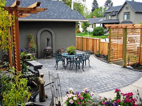 custom backyards custom backyard on calgary infill morgan k landscapes
