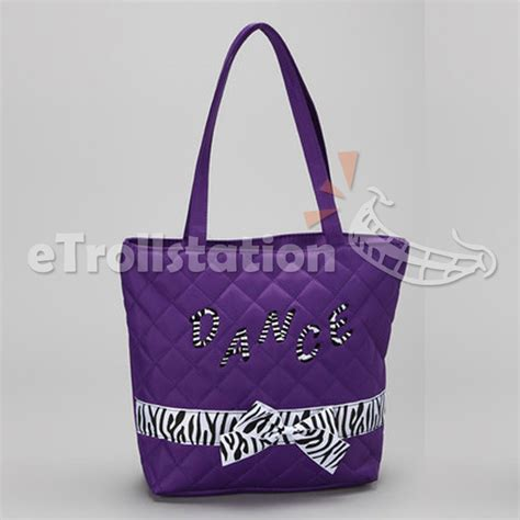 dance tote bag pattern stylish girls kids nylon dance tote bag w quilted zebra