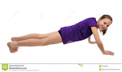 Floor Plans For Kids girl doing push ups stock photo image of up sport