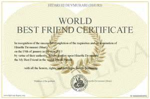 best friend award certificate printable memes