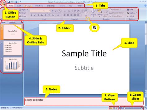 powerpoint tutorial video 2007 powerpoint 2007 understanding the screen