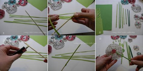 How To Make Stems For Paper Flowers - lovely turtle s crafts dyi muffin liner paper