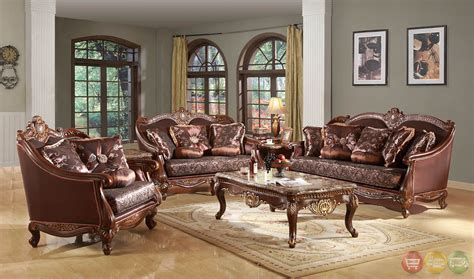 classic living room sets marlyn traditional dark wood formal living room sets with