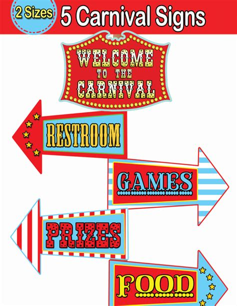Printable Carnival Signs
