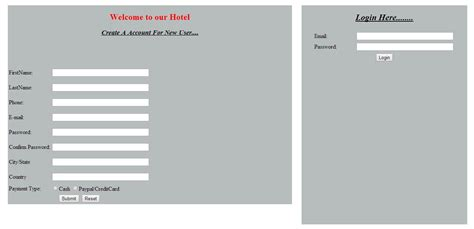 form design for hotel management system hotel management system php project phpsourcecode net
