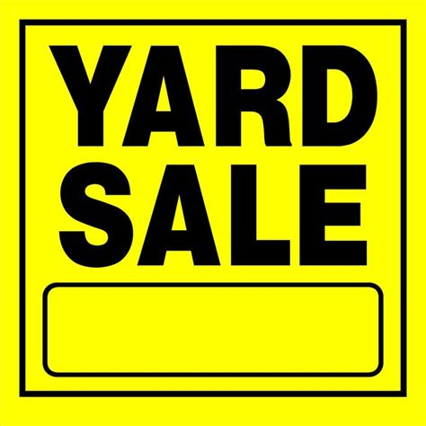 printable yard sale signs shop the hillman group 11 in x 11 in yard sale sign at