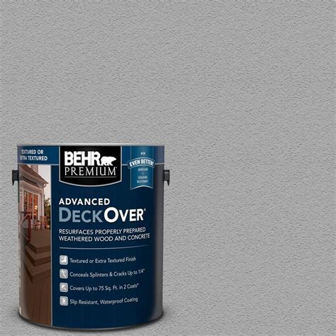 behr premium advanced deckover  gal pfc  silver gray