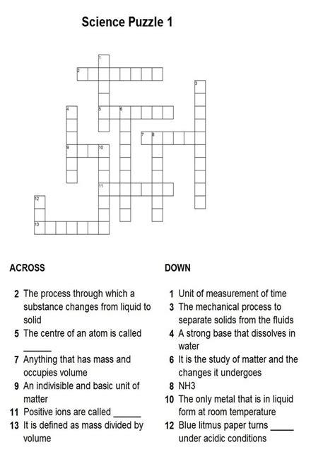 printable crossword puzzle science printable football crossword puzzles quotes quotes