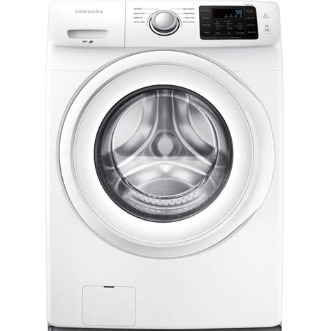 samsung 4 2 cu ft high efficiency front load washer in white energy wf42h5000aw the