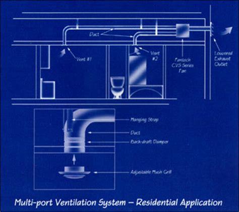 venting multiple bathroom exhaust fans fantech multiple bath bath fans