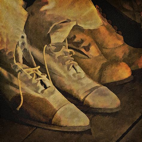 These Boots Are Made Forpaintin by These Boots Are Made For Walking Photograph By Priscilla