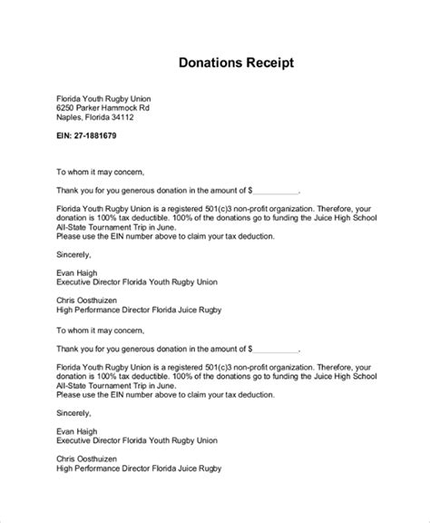 donation receipt letter for tax purposes oyunkolay com
