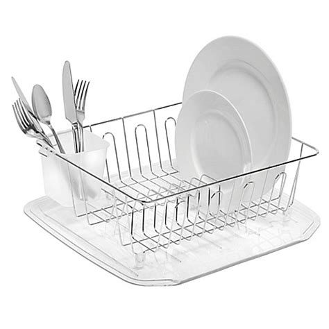 dish rack bed bath and beyond salt small dish drainer in chrome bed bath beyond