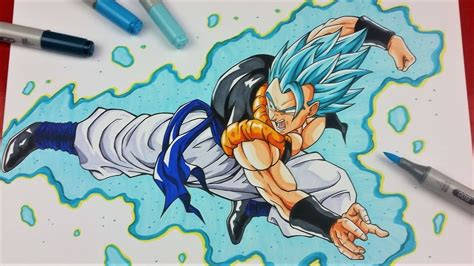 Drawing GOGETA Super Saiyan BLUE, Dragonball Super